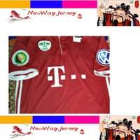 Wholesale 16 VIDAL COATA LEWANDOWSKI MULLER ROBBEN GOTZE BOATENG ALABA jersey customize Finals patches