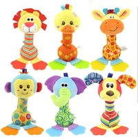 animal sounds lion - New Baby toy stick Cartoon Animal lion duck elephant dog monkey giraffe Sound Toys Rattle Baby Hand Puppet Stick