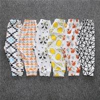 Wholesale 2017 Most Popular Baby Toddler Cartoon Pants Harem Cotton Fox Panda Lemon Fruit Pants Sweet Toddler Baby Pants MC0162