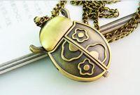 beetles wings - 10 Antique Design jewelry beetle Open wings children Necklace pocket watch