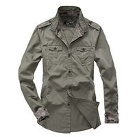 Wholesale new High Quality casual men s military Style long sleeved shirts outdoor Camping amp Hiking cotton Shirts