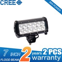 Wholesale Rectangle Waterproof LED Working Lights Spot Beam Cool White Degree lm W Front and Bear Driving Lights