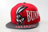 beach bugs - Bugs Bunny Snapback Cute Cartoon Snapbacks Adjustable Cap Hat Men Women Summer Beach Sun Hats Party Caps