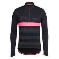 Wholesale 2016 RCC Rapha Long Sleeve Cycling Jerseys Men Women Winter Thermal Fleece Bike Clothing Cycling Jersey Breathable Bike Wear