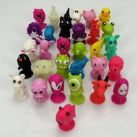 Wholesale 50 bag good Cupule kids Cartoon Animal Action Figures toys Sucker kids Mini Suction Cup Collector Capsule model