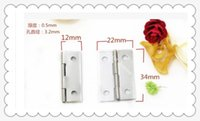 Wholesale 50pcs Furniture accessories mm mm silver tin flat hinge jewelry box hinges ackaging tin thickness mm