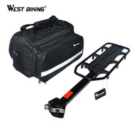 Wholesale kg Capacity Bike Racks Bag Bike Luggage Bicycle Accessories V Brake Disc Kickstand Cycling Rear Saddle Bag Bicycle Rack