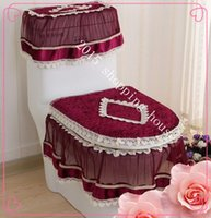Wholesale toilet three sets of lace overcoat toilet case for home decor