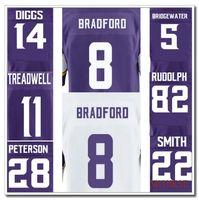 Wholesale Best quality jersey Sam Bradford Laquon Treadwell Adrian Peterson Teddy Bridgewater Anthony Barr Harrison Smith elite jersey