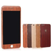 Wholesale Luxury Wood Skin Phone Sticker for iPhone s Plus s SE Full Body Decal Wrap Protective Cover Case free Screen Protector