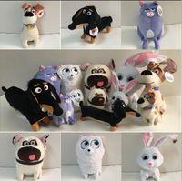 baby snowball - 14 cm The Secret Life Of Pets New Cotton Movie Plush Toys Max Snowball Gidget Mel Chloe Buddy Animals Doll Stuffed Toys Baby Gift