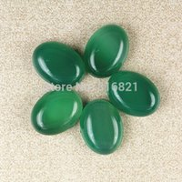 Stone agate cabochons - Pieces x12mm Green Agate stone Dome Oval Cabochon Beads Flat Back Natural stone cabochons for Jewelry Making
