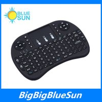 Wholesale Hot Sale Fly air Mouse For Google Tv Box MINI PC Touch Flying G Wireless Qwerty Wifi Rii Mini i8 Wireless Keyboard