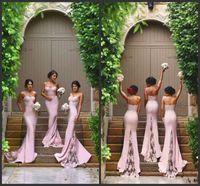 Wholesale Hot New Spaghetti Straps Lace Applique Beaded Custom made Sweep Train Simple Design Bridesmaid Dresses E0254