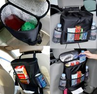 Wholesale Auto Insulated Back Car Seat Organizer Holder Multi Pocket Travel Storage Hanging Bag High Quality DHL Free