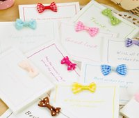 Wholesale H076 Korean Stationery Cute Bow Mini Birthday Cards Holiday Greeting Card Postcard Sold At Factory Direct