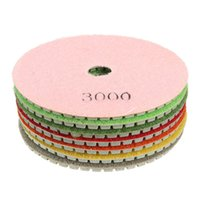 Wholesale 7pcs set High wear resistance mm inch Wet Diamond polishing pads Granite Marble pad set long service life