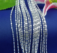 Wholesale Sterling Silver Mark Bamboo Chain Necklace inch to inch for your choose