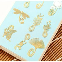 Wholesale Exquisite Mini Metal Bookmark Chinese style creative simplicity classic B paragraph optional