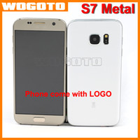metal - S7 Edge Phone Metal Shell Quad Core MTK6580A GB Ram GB Rom Phone Show GB Android S7 Cellphone Support G WCDMA G GSM Sim Card