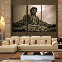 Wholesale Unframed Panels Buddha HD Canvas Print Artwork Modern Home Wall Decor painting Canvas Art HD Picture Print On Canvas