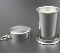 Wholesale Supply of hot stainless steel portable outdoor travel portable retractable cup folding cup telescopic small Wineglass cup special