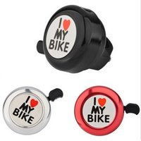 Wholesale 20PCS Bicycle Bell I Love My Bike Printed Clear Sound Cute Bike Horn Alarm Warning Bell Ring Bicycle Accessory