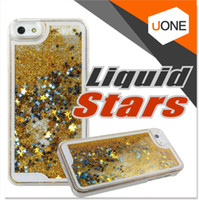 aqua cases - For Samsung Note Case Sparkly Bling Stars and Glitter Flowing Liquid Water Aqua Movable Dynamic Hard Cover Case For iphone S S7 S6 Edge