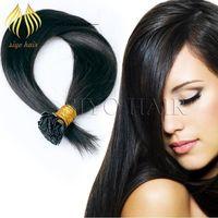 "Cheap Pre Bonded Flat Tip Hair Extensions 1 Gram Strand Remya Human Keratin Hair 14""-24"" Silky Straight Fusion Hair Extensions 100 strands 100g"