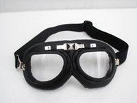 G # 06 gafas de la motocicleta CE Vintage Matt Negro Marco UV claro transparentes lente gafas Steampunk casco de ciclismo Racing Ojo desgaste T-01