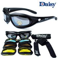 Wholesale Daisy C5 Desert Sunglasses lensesTactical Eyewear Glasses Eye Protection For Airsoft UV400 Glasses