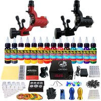 Wholesale Solong Tattoo Complete Tattoo Kit Pro Machine Guns Bottles oz Inks Power Supply Foot Pedal Needles Grips Tips TK249