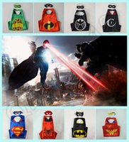 custom acrylic - 72 styles Double Side Superhero Capes mask set The Avenger Ninja Star Wars capes mask set Superman Frozen Cinderella for Kids HHA784