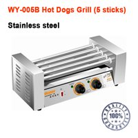 Wholesale WY B Stainless steel Five sticks electric hot dog grill hot dog making machine sausage grill