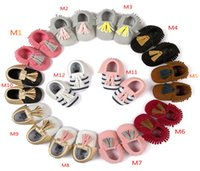 Wholesale BX34 Gift leather and nubuck baby shoes Footwear Casual Newborn Baby First Walker Shoe Toddler Baby Boy Girl Infant month