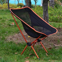Wholesale LS4G Portable Light weight Folding Camping Stool Chair Seat For Fishing Festival Picnic BBQ Beach With Bag Orange