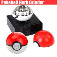 abs alloy - New Poke mon go Metal Grinder mm Poke Mon Ball Herb Grinder Zinc Alloy ABS Grinders layer Parts mm Grinders dry tobacco smoke PokeBall