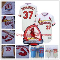 baseball keith - Keith hernandez Jersey St Louis Cardinals Baseball Cooperstown Vintage Flexbase Cool Base Pullover Button White Grey Blue Red Cream