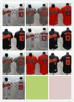 baltimore blue - 2016 Flexbase MLB Stitched baltimore orioles Jones Machado Davis White Black Gray Orange Baseball Jersey Mix Order