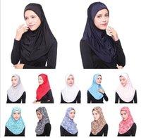 Wholesale 2016 Fashionable Muslim Hijab under scarf Ice silk Jersey Soft Bonnet Ninja Wrap Neck Cover Headwear Cap
