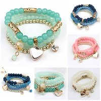 acrylic process - Bracelets Bangles Women Special Offer Top Fashion Summer Style High Quality Beads Process Fashion Bead Bracelet