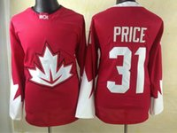 name brand apparel - 2016 Olympic Games Hockey Jerseys Red Carey Price Men s Hockey Jersey Brand Olympics Style Athletic Outdoor Apparel Stitched Name Number