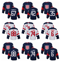 Wholesale Team USA Patrick Kane World Cup of Hockey Olympics Game Navy Blue Mens Jerseys Oshie Hockey Jerseys White Color Available