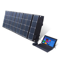 solar panel battery charger controller - 120W folding solar panel system DC V USB V Dual charger port Built in controller solar cell battery charger system wholesa
