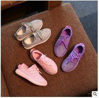 Wholesale 2016 New Baby Kids Casual Shoes Fashion Boys Girls Pink Shoes For Children Sports Shoes Eu