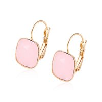 arrival copper plating - Kendra Scott Pink Gemstone Huggie Fahion Design K Gold Plated Earhoop For Women New Arrival Copper Jewelry Earrings for Gift