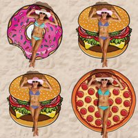 Wholesale Beach Towels Summer Large cm Polyester Toalla Pizza Round Beach Towels Bohemia Style Circle Serviette De Plage Beach Towels toalla playa