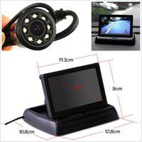 Wholesale Car Rear View Backup LED Night Vision Camera quot Foldable LCD Display Monitor