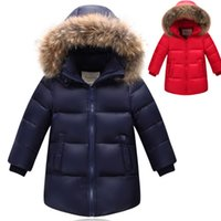 Wholesale 2016 Kids Hooded Warm Boy s Winter down Jackets Newest baby boy s Coats thick duck Down brand Kids jacket Children Outerwears cold winter
