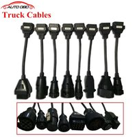 Wholesale Full Set tcs cdp Truck Cables for TCS cdp pro plus SCANNER truck cable OBD2 OBDII Trucks Diagnostic tool connect cable